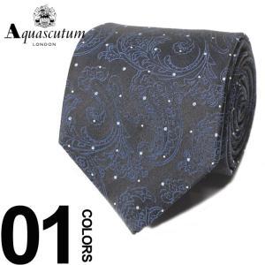 アクアスキュータム Aquascutum ネクタイ シルク100% ペイズリー ドット ブランド メンズ 紳士 ビジネスAQAW6072|zen