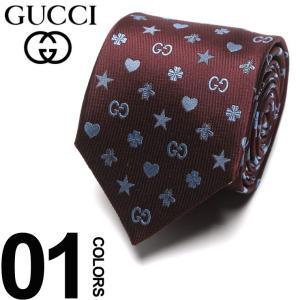 グッチ GUCCI ネクタイ シルク100% シンボルズ モチーフ ロゴ RED ブランド タイ シルク GC5458346169 父の日 ギフト プレゼント|zen