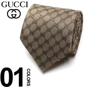 グッチ GUCCI ネクタイ シルク100% GGパターン ロゴ BROWN ブランド タイ シルク GC4565229700 父の日 ギフト プレゼント|zen