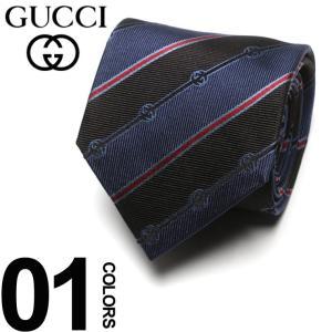 グッチ GUCCI ネクタイ シルク100% GGストライプ ロゴ NAVY ブランド タイ シルク GC4996964074 父の日 ギフト プレゼント|zen