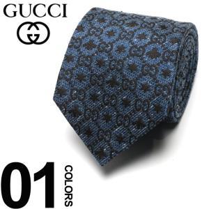 グッチ GUCCI ネクタイ シルク100% ビー スター ロゴ NAVY ブランド タイ シルク GC5378984260 父の日 ギフト プレゼント|zen