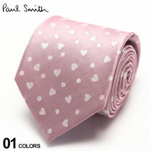 ポールスミス メンズ Paul Smith シルク100% ハート 総柄 ピンク ブランド メンズ タイ シルク ビジネス ギフト PSALU54323|zen