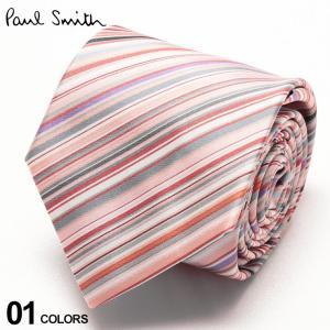 ポールスミス メンズ Paul Smith シルク100% マルチストライプ ピンク ブランド メンズ タイ シルク ビジネス ギフト PSALUX6220|zen