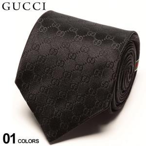 グッチ ネクタイ GUCCI シルク100% シャドーGGロゴ BLACK ブランド メンズ 紳士 タイ シルク ビジネス ギフト GC4565201000|zen