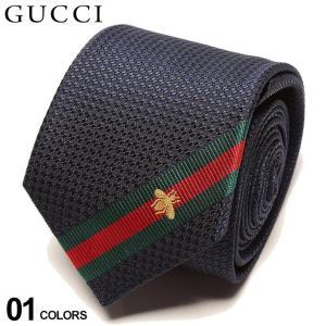 グッチ ネクタイ GUCCI シルク100% ライン 蜂 NAVY ブランド メンズ 紳士 タイ シルク ビジネス ギフト GC4565104066|zen