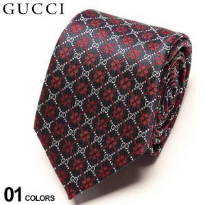 グッチ ネクタイ GUCCI シルク100% ロゴ 小紋 NAVY ブランド メンズ 紳士 タイ シルク ビジネス ギフト GC5450724177|zen