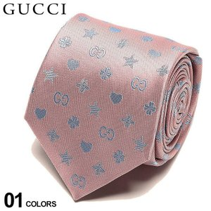 グッチ ネクタイ GUCCI シルク100% 蜂 ロゴ プリント PINK ブランド メンズ 紳士 タイ シルク ビジネス ギフト GC5458345869|zen