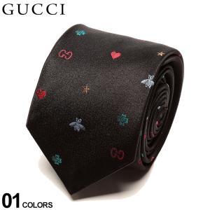 グッチ ネクタイ GUCCI シルク100% 蜂 ロゴ プリント NAVY ブランド メンズ 紳士 タイ シルク ビジネス ギフト GC5718191000|zen