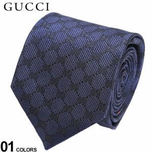 グッチ メンズ ネクタイ GUCCI シルク100% GGパターン ネクタイ ブランド ビジネス 紺 シルク 絹 柄 GC4565224000|zen