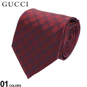 グッチ ネクタイ GUCCI シルク100% ロゴ GGパターン ブランド メンズ 紳士 ビジネス シルク 絹 赤 バーガンディー GC4565246068|zen