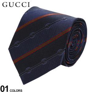 グッチ ネクタイ GUCCI シルク100% GG ロゴ ストライプ ブランド メンズ 紳士 ビジネス シルク 絹 紺 青 GC4996964066|zen