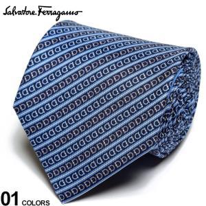 サルヴァトーレ フェラガモ メンズ ネクタイ Salvatore Ferragamo シルク100% ガンチーニ ストライプ 紺 ブランド ビジネス シルク 絹 柄 FG350294001|zen