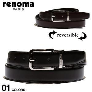 レノマ メンズ renoma リバーシブル レザー ベルト ブランド 本革 ブラック ブラウン ビジネス レザーベルト RNR02 zen