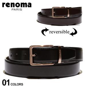 レノマ メンズ renoma リバーシブル レザー ベルト ブランド 本革 ブラック ブラウン ビジネス レザーベルト RNR06 zen