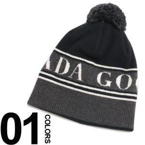 カナダグース ニットキャップ CANADA GOOSE ロゴ ボンボン ニット帽 ブランド メンズ 帽子 ビーニー ウール CG5114M zen