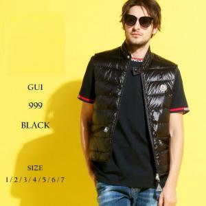 モンクレール MONCLER ダウンベスト ライトダウン ナイロン スタンドカラー GUI ギ BLACK ブラック ブランド メンズ ライトアウター ダウン MCGUI9|zen