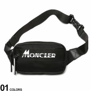 モンクレール バッグ MONCLER ロゴ プリント ナイロン ベルトバッグ AUDE ブランド メンズ レディース ウエストポーチ ボディバッグ MC5M7011002SAY|zen