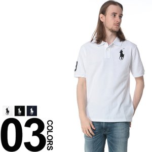 POLO RALPH LAUREN ポロ ラルフローレン 綿100% ビッグロゴ刺繍 半袖 ポロシャツ|zen
