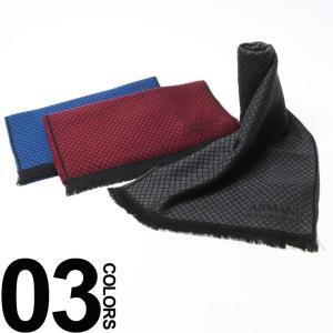アルマーニコレツィオーニ ARMANI COLLEZIONI ウール ロゴ チェック マフラー GA6450637A711 ブランド メンズ 男性 zen
