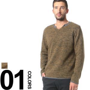 リプレイ REPLAY ウール フェイクレイヤード ニット セーター ニットソー RPUK1032G21202A メンズ ブランド|zen