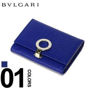 ブルガリ BVLGARI パスケース 定期入れ レザー ロゴ刻印リング 二つ折り 名刺入れ ブランド メンズ レディース カードケース BLG36322 zen