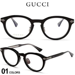 グッチ メンズ メガネ GUCCI ロゴ ボストン セルフレーム クリアレンズ ボストン アイウェア ブランド 眼鏡 伊達メガネ GC0071O001|zen