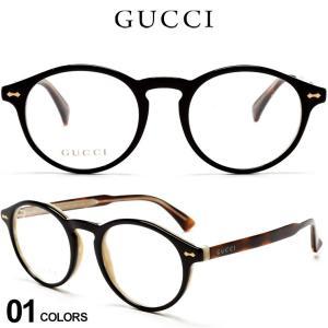 グッチ メンズ メガネ GUCCI ロゴ ボストン セルフレーム クリアレンズ ボストン アイウェア ブランド 眼鏡 伊達メガネ GC0127O005|zen