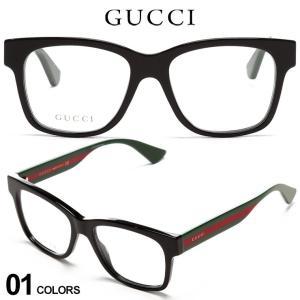 グッチ メンズ メガネ GUCCI ウェビングライン セルフレーム クリアレンズ ウェリントン アイウェア ブランド 眼鏡 伊達メガネ GC0342O001|zen