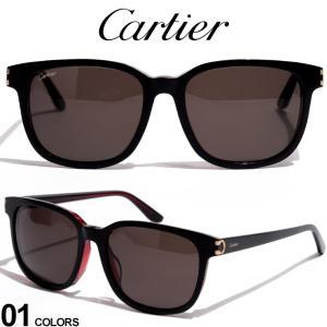カルティエ サングラス Cartier ロゴ ウェリントンフレーム ブランド メンズ 眼鏡 アイウェア CT0002SA zen