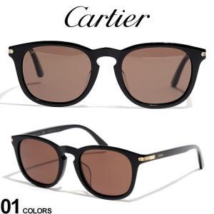 カルティエ サングラス Cartier ロゴ ウェリントンフレーム ブランド メンズ レディース 眼鏡 アイウェア CT0011SA zen