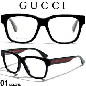 グッチ メガネフレーム GUCCI ウェビングライン ロゴ ウェリントンフレーム アイウェア ブランド メンズ 眼鏡 伊達メガネ GC0342OA001|zen