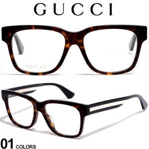 グッチ メガネフレーム GUCCI ロゴ ライン デミ ウェリントンフレーム アイウェア ブランド メンズ 眼鏡 伊達メガネ GC0342OA002|zen
