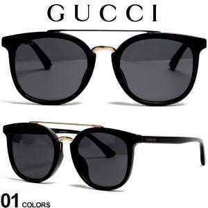 グッチ サングラス GUCCI ゴールド ダブルブリッジ ロゴ ウェリントンフレーム ブランド メンズ レディース 眼鏡 アイウェア GC0403SA|zen