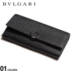 ブルガリ 財布 BVLGARI レザー ロゴ 刻印リング フラップ 長財布 黒 ブランド ウォレット 長財布 本革 ロングウォレット メンズ レディース BLG30414|zen