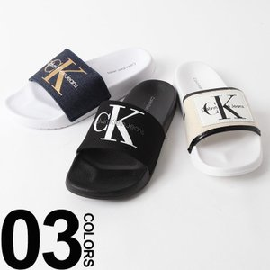 大人気Calvin Kleinのシャワーサンダルです。インパクトあるランドロゴが印象的です。履くだけ...
