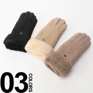エミュー オーストラリア EMU Australia シープスキン ロゴプレート ムートングローブ 手袋 【EMW9405】 ブランド レディース 正規代理店 zen