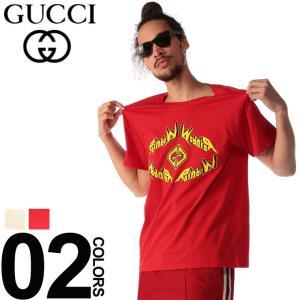 グッチ GUCCI Tシャツ 半袖 GG メタル ロゴ プリント ブランド メンズ トップス クルーネック GC493117XJAKJ|zen