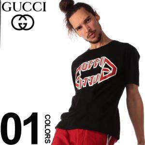 グッチ GUCCI Tシャツ 半袖 GG メタル ロゴ プリント ブランド メンズ トップス クルーネック GC493117XJAI0|zen