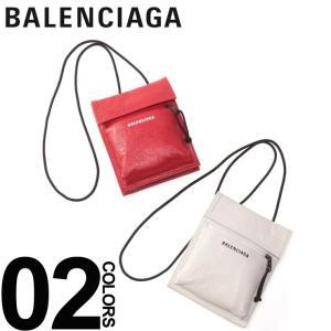 バレンシアガ BALENCIAGA バッグ ラムレザー ロゴ エクスプローラー ポーチ ストラップ ショルダー ブランド レディース メンズ 鞄 BC532298DB505|zen