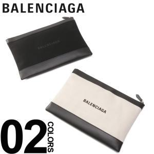 バレンシアガ BALENCIAGA クラッチバッグ ロゴ プリント キャンバス レザー NAVY CLIP M ブランド レディース メンズ 鞄 バッグ BC373834AQ3BN|zen