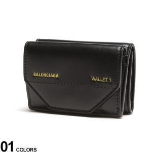 バレンシアガ 財布 BALENCIAGA ETUI MINI WALLET レザー ロゴ 3つ折り ミニウォレット ブランド レディース メンズ 財布 ミニ財布 レザー BCL5290980ST2N|zen