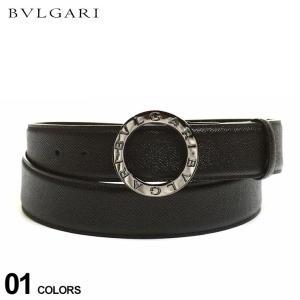ブルガリ メンズ BVLGARI レザー ラウンドバックル ベルト ブランド 本革 レザーベルト BLG38955|zen