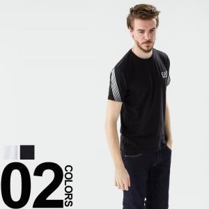アルマーニ EMPORIO ARMANI EA7 エンポリオアルマーニ 袖ライン 半袖 Tシャツ EA2736385P209 メンズ ブランド トップス カットソー カジュアル