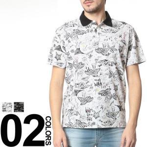 ディーゼル DIESEL ロゴプレート 総柄 半袖 ポロシャツ ブランド メンズ DSSPF9LALG|zen