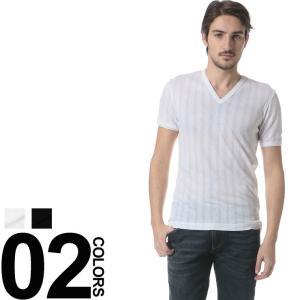 ドルチェ&ガッバーナ DOLCE&GABBANA ドルガバ Tシャツ 針抜き Vネック 半袖 DGN8B29JFU5LT メンズ ブランド|zen