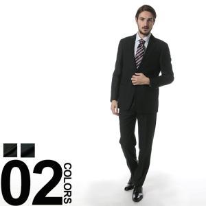 アルマーニコレッツォーニ ARMANI COLLEZIONI スーツ ウール シャドーストライプ シングル 2ツ釦 ノータック GAVCVGCAOC008 zen