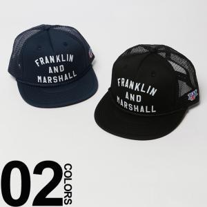 Franklin&Marshall フランクリンマーシャル ロゴプリント メッシュ アジャスター付き キャップ FMCPUA910S17|zen