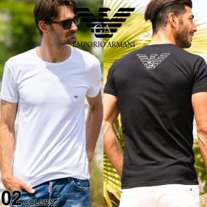 アルマーニ Tシャツ メンズ 半袖 EMPORIO ARMANI ロゴ プリント クルーネック ブランド エンポリオアルマーニ EA111035CC735|zen