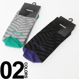 ディーゼル DIESEL ロゴ 総柄 クルー丈 ソックス 靴下 DSS6U0EAQM ブランド メンズ|zen