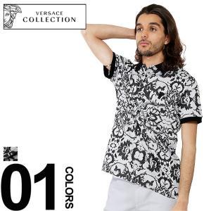 ヴェルサーチコレクション VERSACE COLLECTION ポロシャツ 半袖 ニットポロ ゴシック調 ブランド メンズ トップス VCV80543AVJ0470|zen